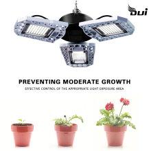 LED Trefoil Plant grow Light E27 Waterproof 80W Motion Sensor plant Lighting 100W 60W Plants Flowers Seedling Cultivation