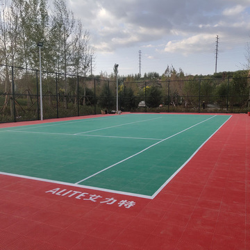Outdoor Tennis Court---Modular sports flooring
