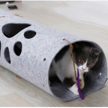 Collapsible Felt Cat Tunnel Toy