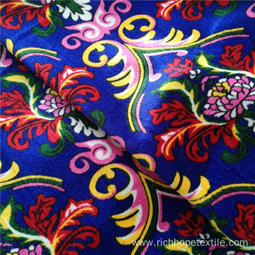 Printed Polyester Velvet African Curtain Fabric For Textile