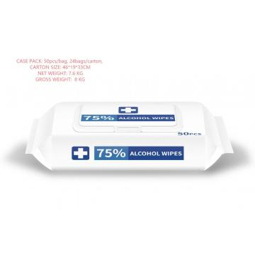 Stock! 75% Alcohol Wipes in Stock Antibacterial Disinfecting Wipes