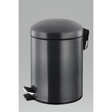 Black Stainless Steel Garbage Bin