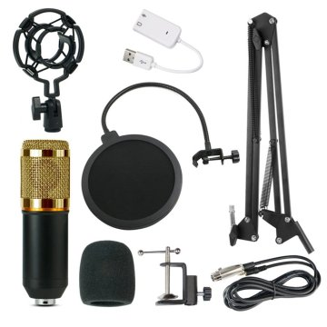 BM-800 Condenser Microphone Kit Network Recording Microphone USB Sound Card NB35 Blowout Preventer Microphone
