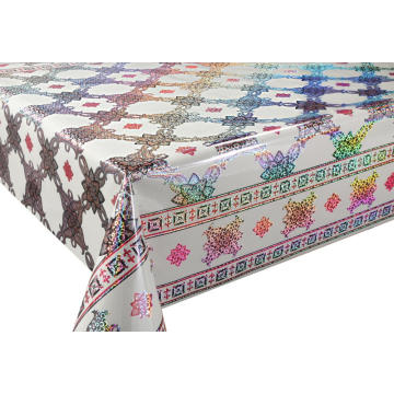3D Laser Coating Tablecloth with Elastic