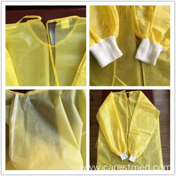 Waterproof PP+PE isolation Gown 35gsm