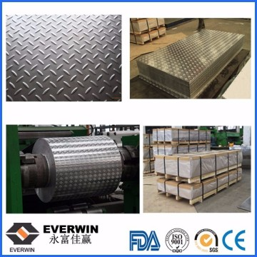 Aluminium Embossed Sheet with Small Five Bar