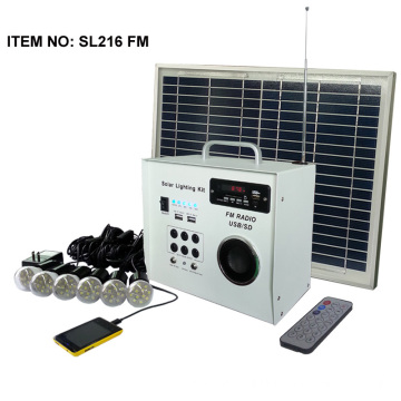 solar led lighting systems with FM radio