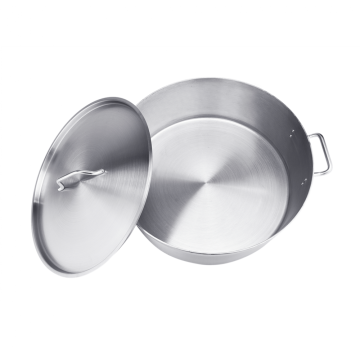 32QT Stainless Steel Sandwich Bottom Braiser With Lid