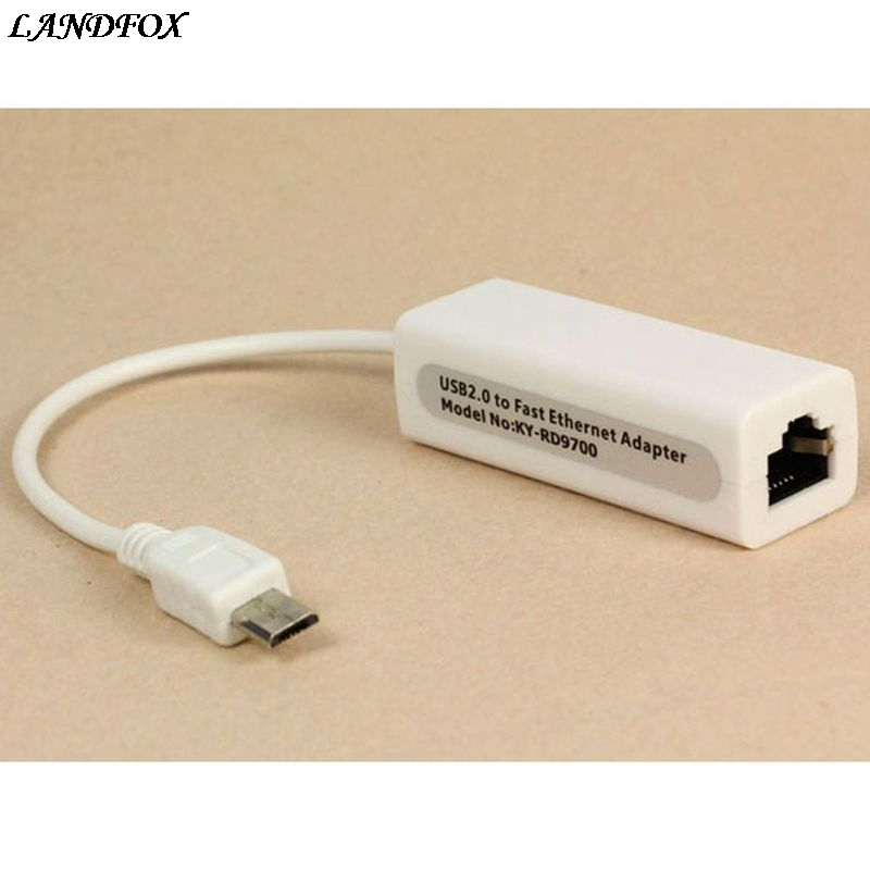 New Micro Mini 5pin USB To RJ45 10/100M Ethernet Network Adapter For SamsungTable PC Hot Sale Drop shipping