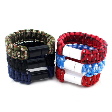 Iphone paracord charging cable bracelet accessories