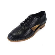 Women's Carved Round Toe Flat  Brogue Shoes