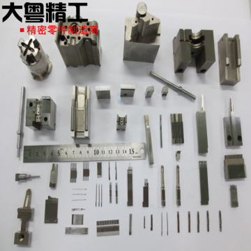 Contour grinding mold components EDM connector punch