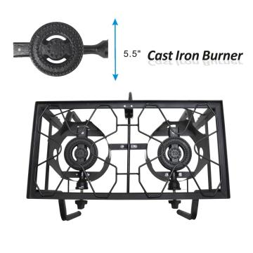 Outdoor Assembled Double Burner Stove