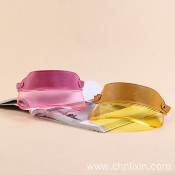 Highlight hard plastic PVC visor cap adjustable