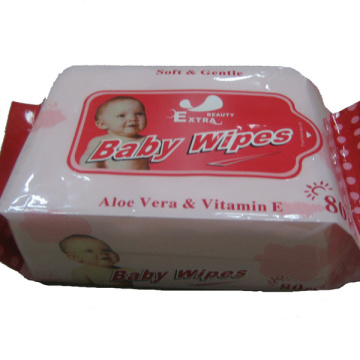 80PCS Flushable Skin-care Organic Natural Baby Wet Wipe
