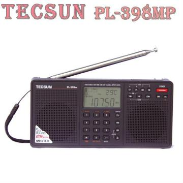 100% Original Tecsun PL-398MP 2.2'' Full Band Digital Tuning Stereo Radio Receiver MP3 Player