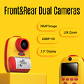 Digital Kids Camera Instant Print Cameras Built-in Lithium Battery Dual Camera Lens 26MP 1080P HD Resolution for Girls and Boys