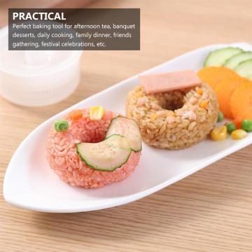 2Pcs DIY Sushi Mold Rice Ball Food Doughnut Mold Rice Mold Sushi Mold Sushi Maker Mold Sushi Kit Bento Accessories Kitchen Tool