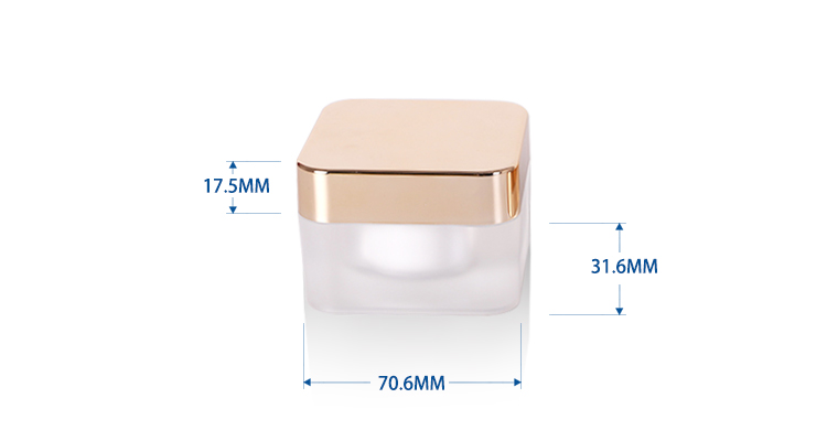 15 g Square Cream Packaging Acrylic Jar