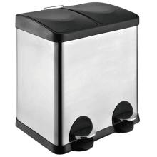 Double Stainless Steel Pedal Trash bin