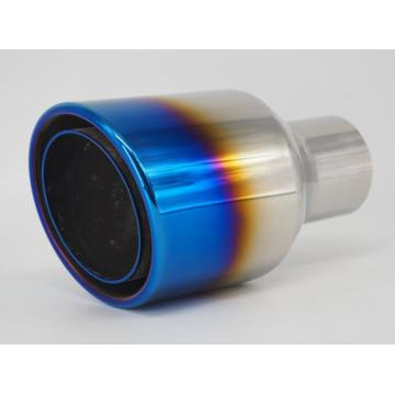 Angle Cut Blue Plating Double Wall Exhaust Tip