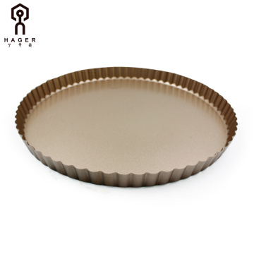 "Champagne gold 11"" Round Baking Pie Dish Pan"