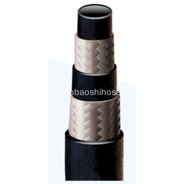 Two layers Fiber Braided Rubber Hose