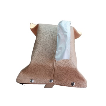 Car console and back seat leather tissue box