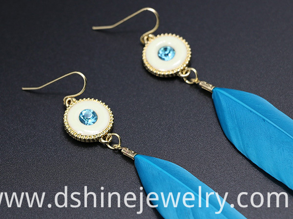 Bridal Feather Earrings