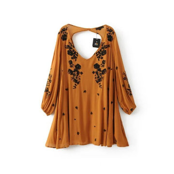 Women Casual Embroidered Dress