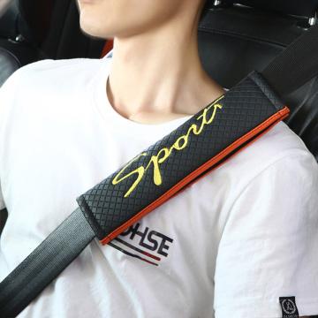 2pcs Racing Sport Car Seat Safety Belt Cover For Peugeot 206 307 407 308 208 3008 Toyota Corolla Yaris Rav4 Avensis Mini Cooper
