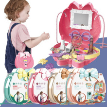 Children Simulation Kitchen Tableware Makeup Jewelry Candy Handbag Medical Tools Princess Makeup Play House Toys Girl Gifts