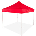 Red Color Tent With Side Wall Half Wall