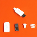 10pcs/lot YT2153Y Micro USB 4pin Male Connector Plug White/black Welding Data OTG Line Interface DIY Data Cbale Drop Shipping