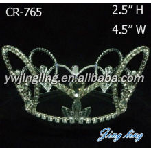 Cheap Rhinestone Full Round Beauty Queen Crown