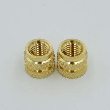 CNC produced brass thread insert for plastic