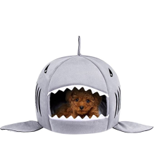 Washable Shark Pet House Cave Bed