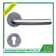 SZD STH-102 Fireproof satin nickel door handle with escutcheons