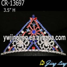 Series Red Blue Rhinestone Snowflake Christmas Crown