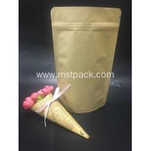 Kraft Paper Stand Up Pouch With Zipper