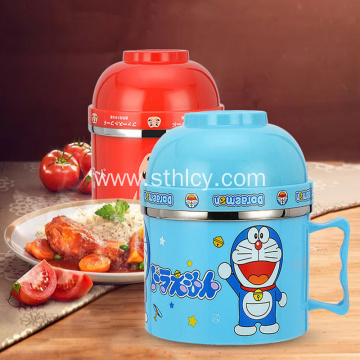Multi-Function Cartoon Fast Food Bowl And Cup