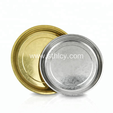 Golden Color Stainless Steel Snacks Serving Tray