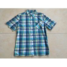 Man Short Sleeve Plaid Shirt