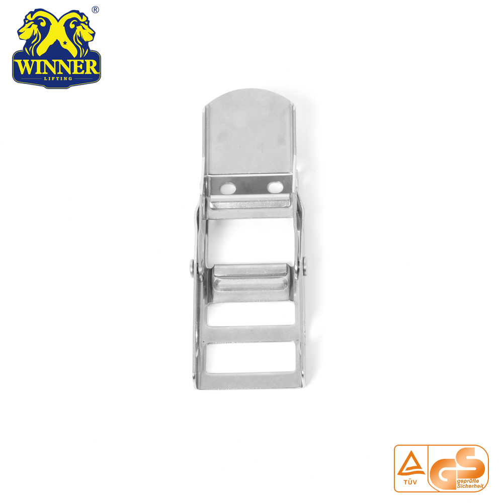2 Inch White Zinc Webbing Buckle Steel Overcenter Buckle