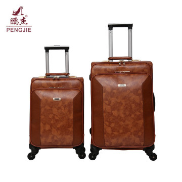 New Design Cheap Pu Leather Vantage Elegance Luggage