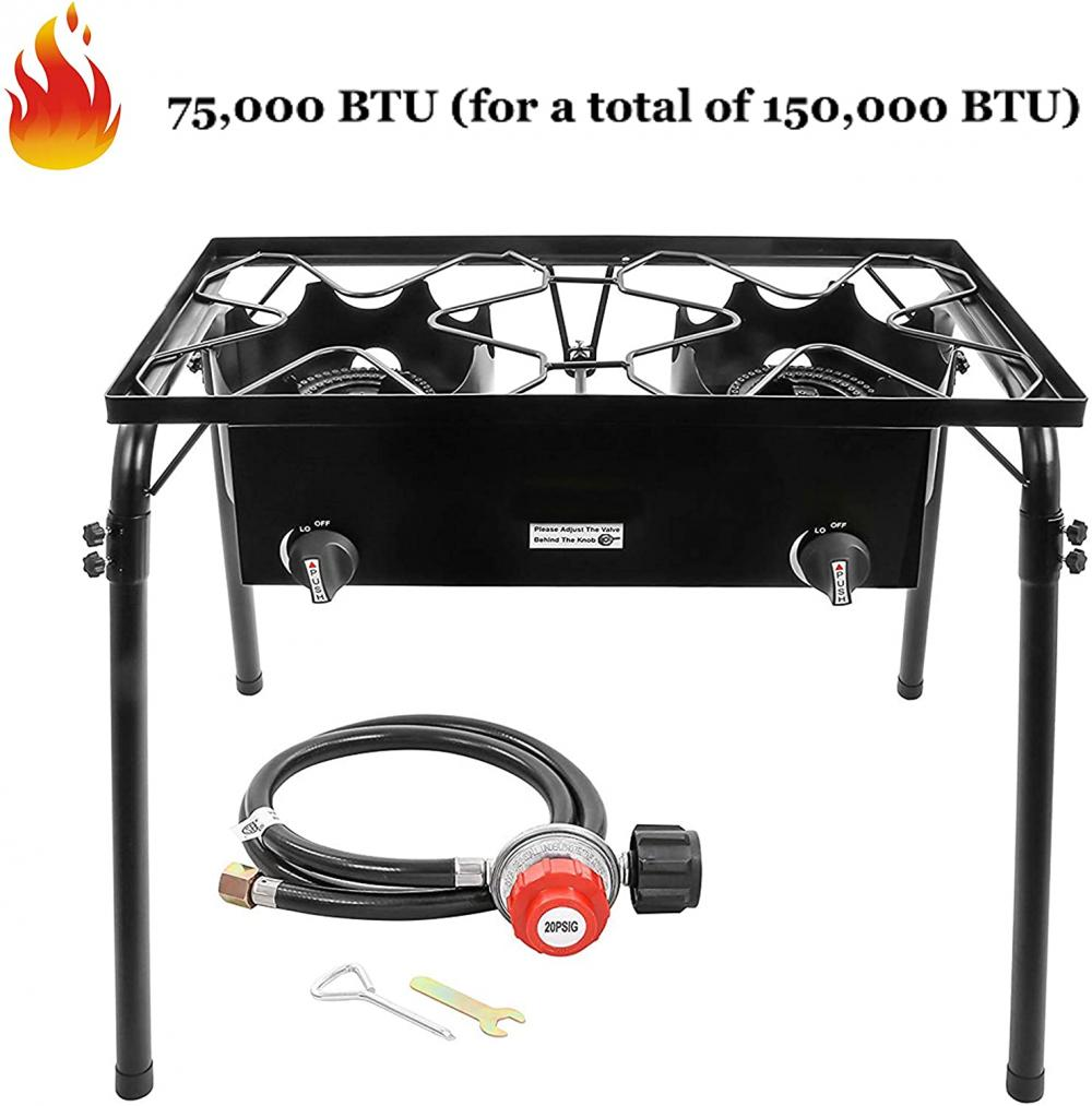 150,000 BTU Outdoor 2 Burner Stove