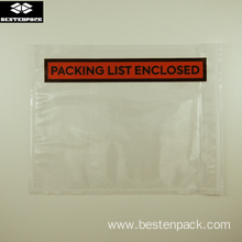 Packing List Envelope 5.5x7 inches Half Printed Red