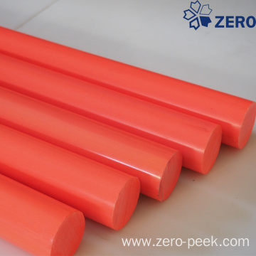 Orange acetal rod virgin
