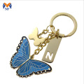 Metal butterfly shape keychain for anniversary gift