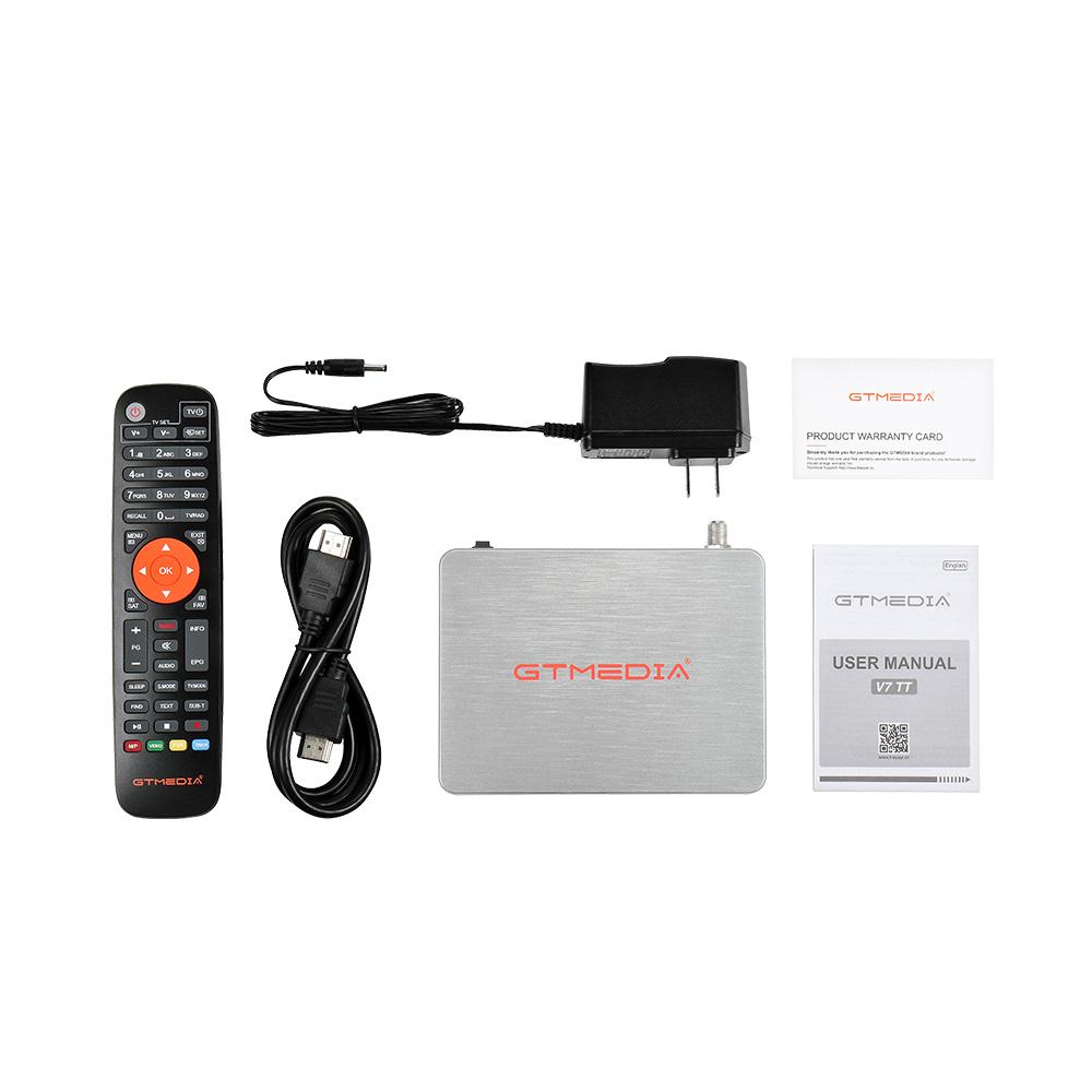 GTMEDIA v7 TT Satellite TV Receiver DVB TV BOX DVB-T2 DVB-S Digital Wifi tv box Receiver cccam 7 line free Spain France